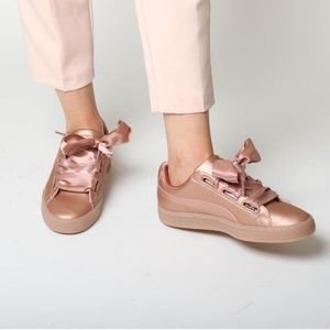 Puma Basket Heart Copper Sneakers Rose Gold